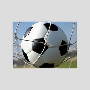 Football Ball In Net 5'x7'Area Rug