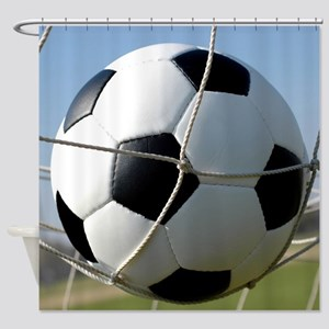 Football Ball In Net Shower Curtain