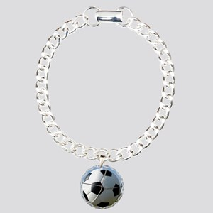 Football Ball In Net Charm Bracelet, One Charm