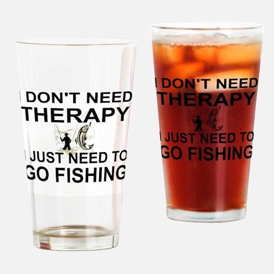 Funny Fishing Drinking Glass