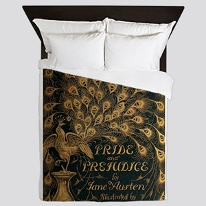 Pride and Prejudice Bookcover Queen Duvet