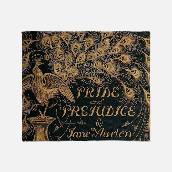 Pride and Prejudice Bookcover Throw Blanket