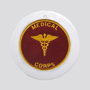 Army Medical Corps Round Ornament