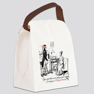 Ardently Merry Christmas Canvas Lunch Bag