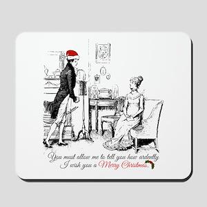 Ardently Merry Christmas Mousepad