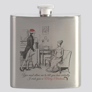 Ardently Merry Christmas Flask