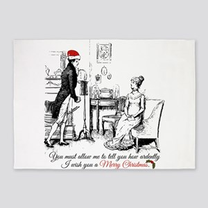 Ardently Merry Christmas 5'x7'Area Rug