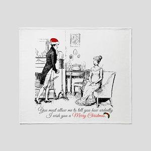 Ardently Merry Christmas Throw Blanket