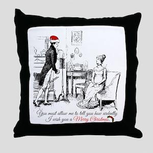 Ardently Merry Christmas Throw Pillow