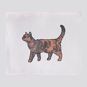 Tortoiseshell Cat Throw Blanket