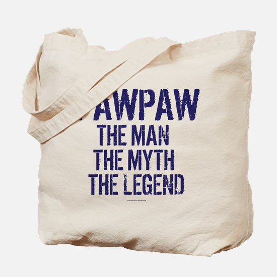 Badass PawPaw Man Myth Legend Tote Bag