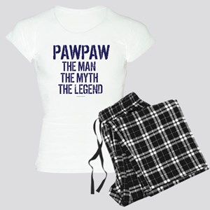 Badass PawPaw Man Myth Lege Women's Light Pajamas