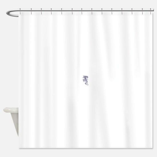 White Tiger Climbing.bmp Shower Curtain