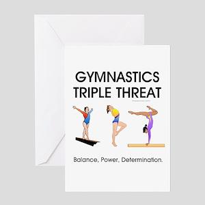 TOP Gymnastics Slogan Greeting Card