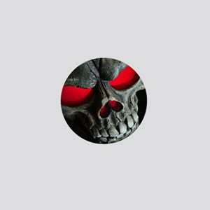 Red Eyed Skull Mini Button