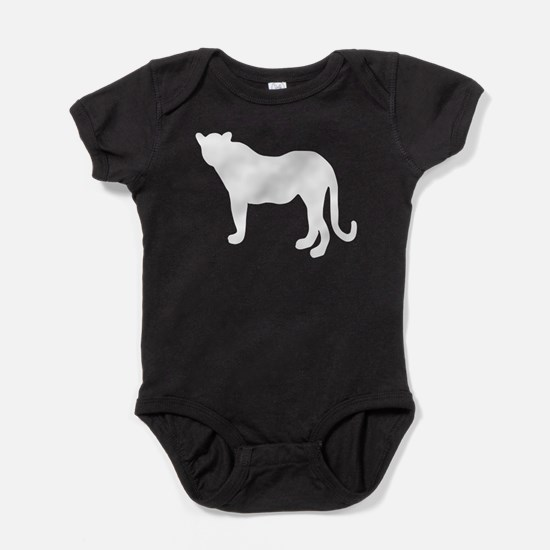 Panther Silhouette Baby Bodysuit