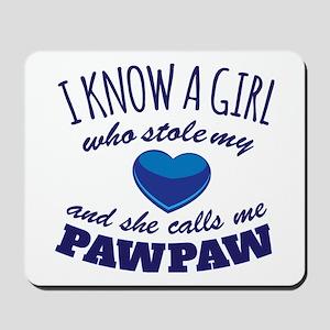 Girl Calls Me PawPaw Mousepad