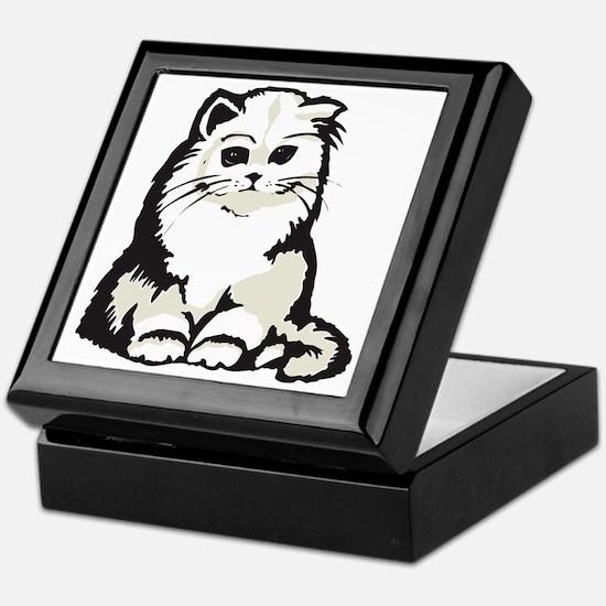 Cute White Persian Kitten Keepsake Box