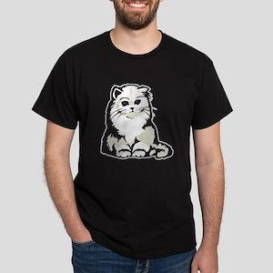 Cute White Persian Kitten Dark T-Shirt