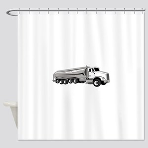 Tanker Truck Shower Curtain