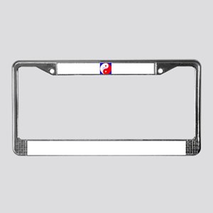 Balance the USA Yin Yang License Plate Frame