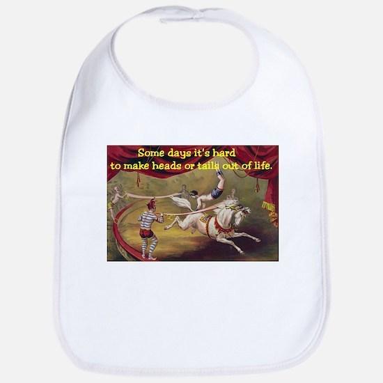 circus acrobat white horse.jpg Bib