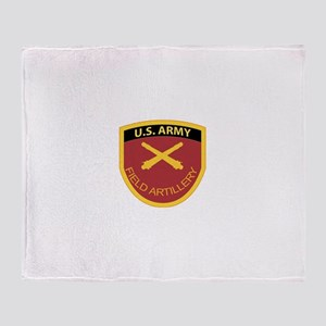 US Army Field Artillery Throw Blanket