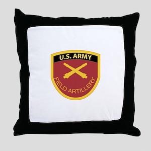 US Army Field Artillery Throw Pillow