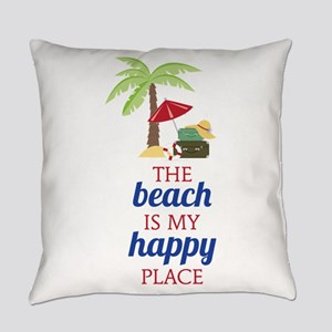 My Happy Place Everyday Pillow