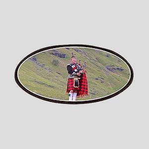 Lone Scottish bagpiper, Highlands, Scotland Patch
