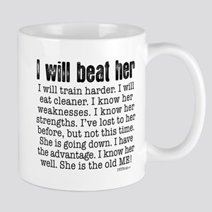 I Will Beat Her Stainless Steel Travel Mugs