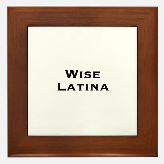 Wise Latina Framed Tile