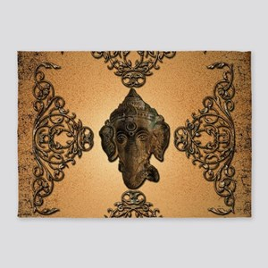 Indian elephant 5'x7'Area Rug