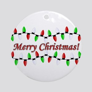 Merry Christmas! Round Ornament