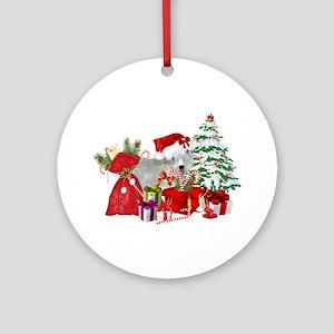 Goat BabyGirl Christmas Round Ornament