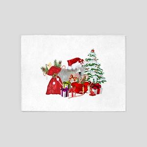 Goat BabyGirl Christmas 5'x7'Area Rug