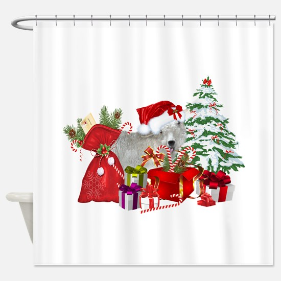 Goat BabyGirl Christmas Shower Curtain