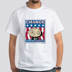 Family Guy Stewie Change White T-Shirt