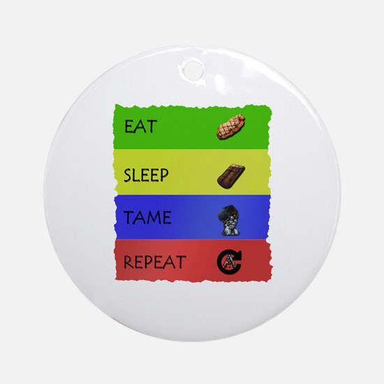 Funny Eat sleep rave repeat Round Ornament