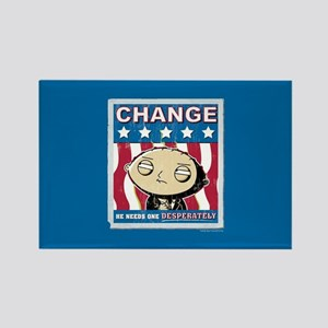 Family Guy Stewie Change Rectangle Magnet
