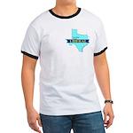 True Blue Texas LIBERAL Men's Ringer T-shirt