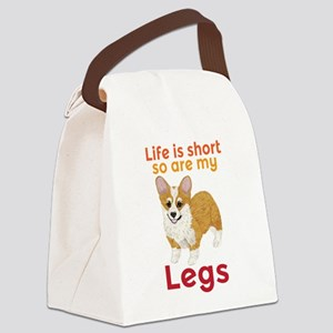 Life is Short Canvas Lunch Bag