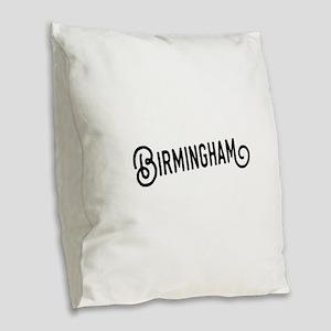 Birmingham, Alabama Burlap Throw Pillow