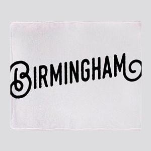Birmingham, Alabama Throw Blanket