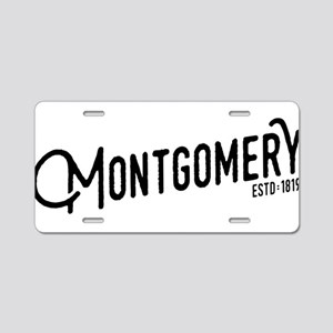 Montgomery, Alabama Aluminum License Plate