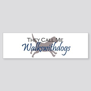 Walkswithdogs Bumper Sticker