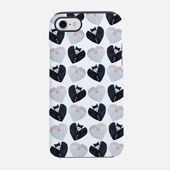 bride and groom hearts iPhone 8/7 Tough Case