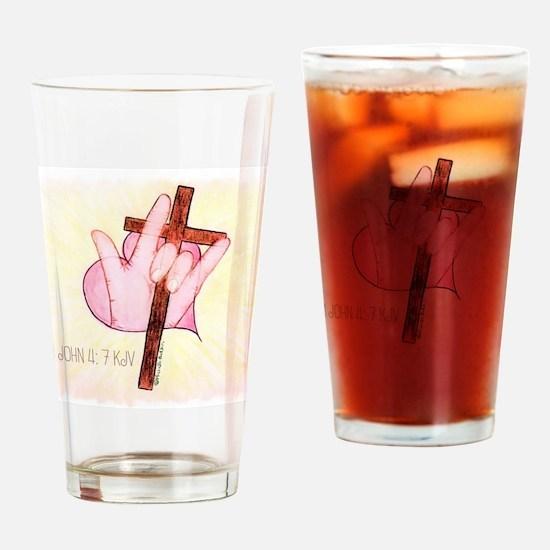 ASL ILY 1 John 4:7 Drinking Glass