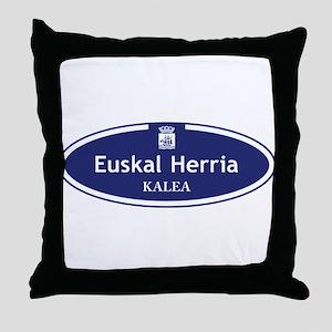 Euskal Herria Kalea, San Sebastian, S Throw Pillow