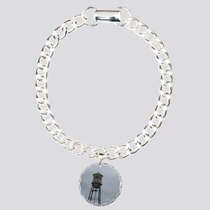 Campbell water tower Charm Bracelet, One Charm